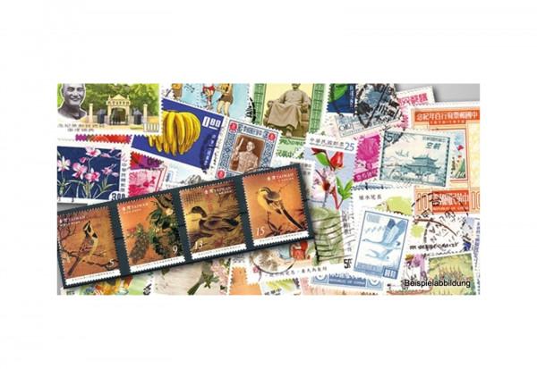 100 Marken Taiwan postfrisch und gestempelt