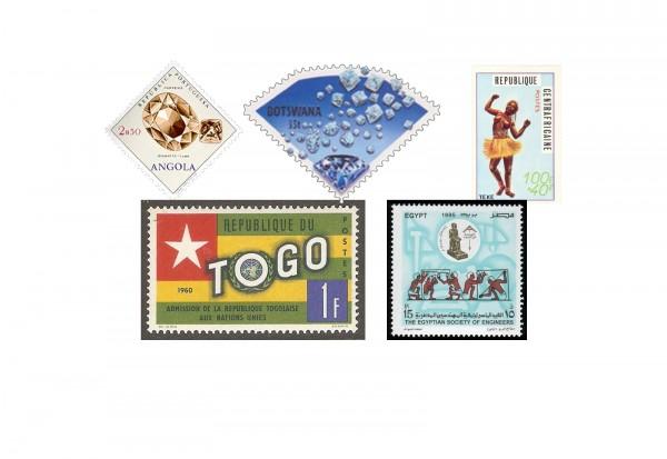 Briefmarken Afrika 300 Marken postfrisch und gestempelt