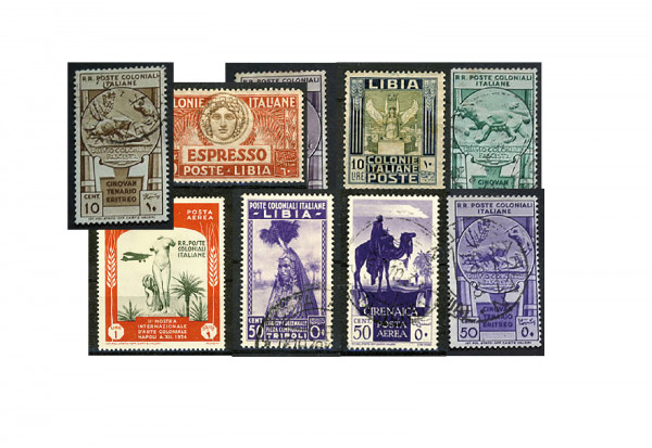 Briefmarken Italienische Kolonien und Nachfolgestaaten - 100 verschiedene Ausgaben