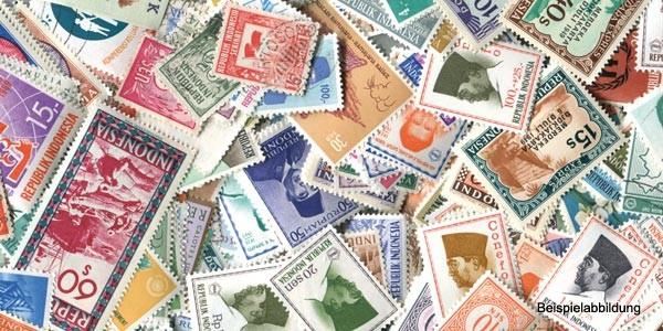 Briefmarken Indonesien 500 verschiedene Ausgaben postfrisch und gestempelt