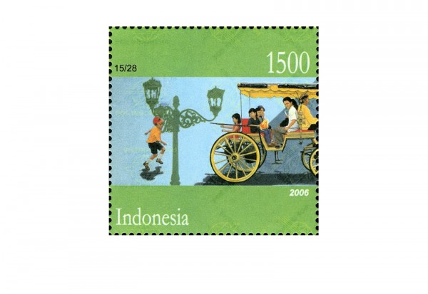 Briefmarken Indonesien 100 Marken postfrisch und gestempelt