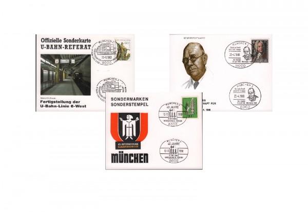 10 verschiedene Motiv-Belege München