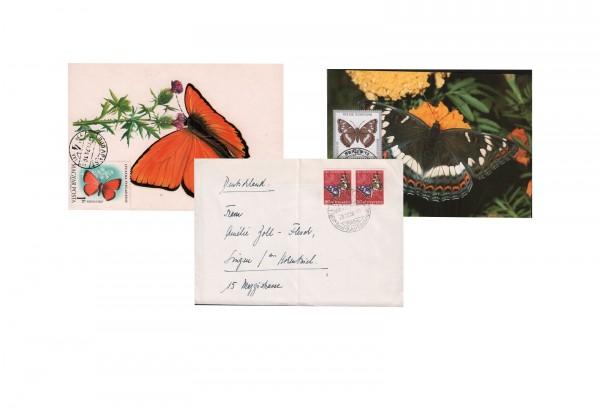 10 verschiedene Motiv-Belege Schmetterlinge