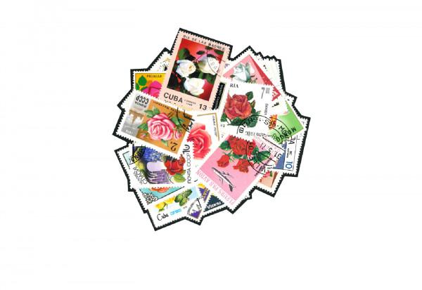 Briefmarken 50 Rosen Motive