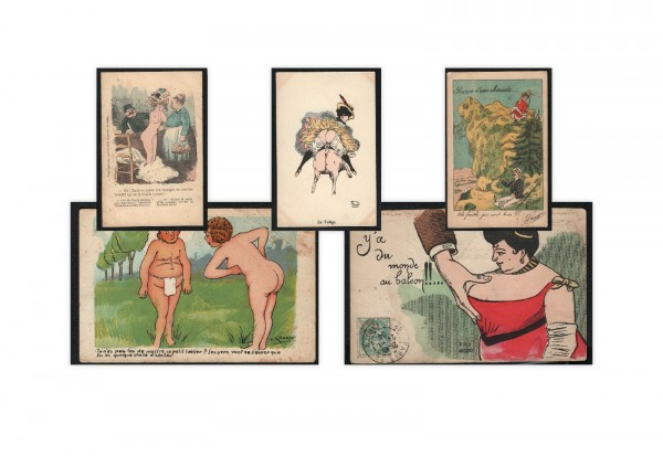 2 verschiedene Original Erotik-Karten
