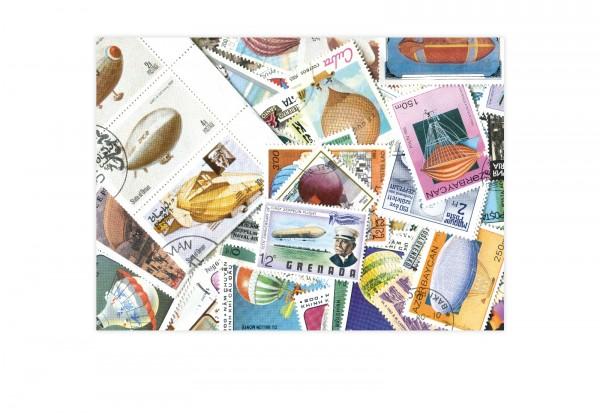 Briefmarken Motiv Ballone und Zeppeline 100 verschiedene Briefmarken
