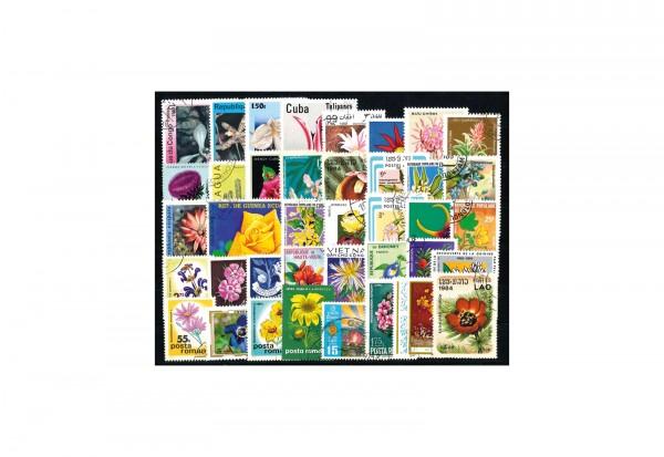 Briefmarken Set Blumen und Pflanzen 500 verschiedene Briefmarken postfrisch und gestempelt