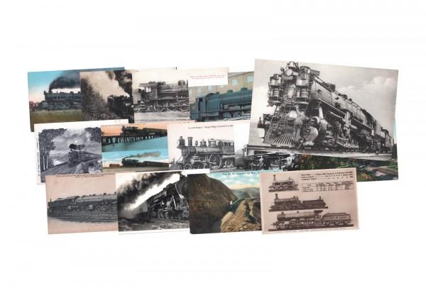 2 verschiedene Original Ansichtskarten Eisenbahnen und Lokomotiven