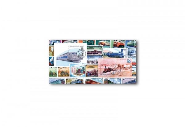 Briefmarken Eisenbahn Motiv-Sortiment 25 verschiedene Marken