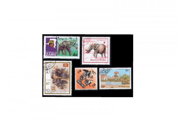 Briefmarken Motiv-Paket Elefanten Kollektion