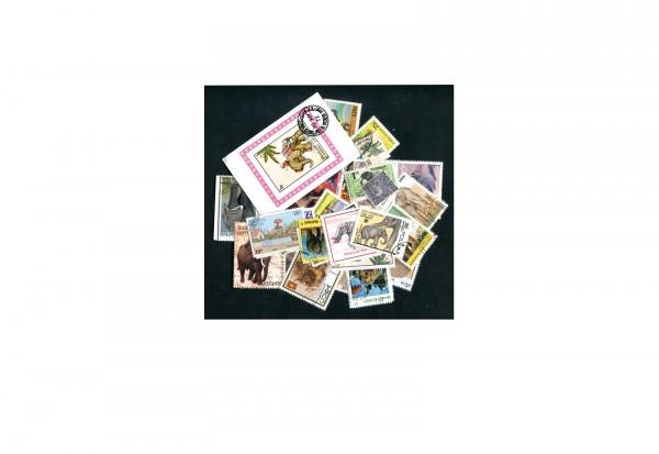 Briefmarken Elefanten 25 verschiedene Marken