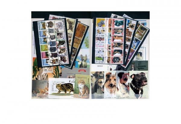Briefmarken Motiv Hunde und Katzen 200 verschiedene Marken