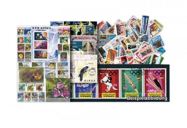 Briefmarken Motiv Marke auf Marke 100 verschiedene Sammlerstücke
