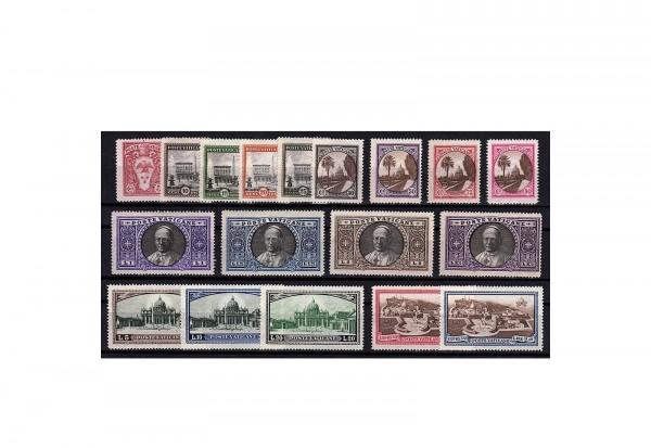 Vatikan Michel-Nr. 21/38 postfrisch Freimarken 1933