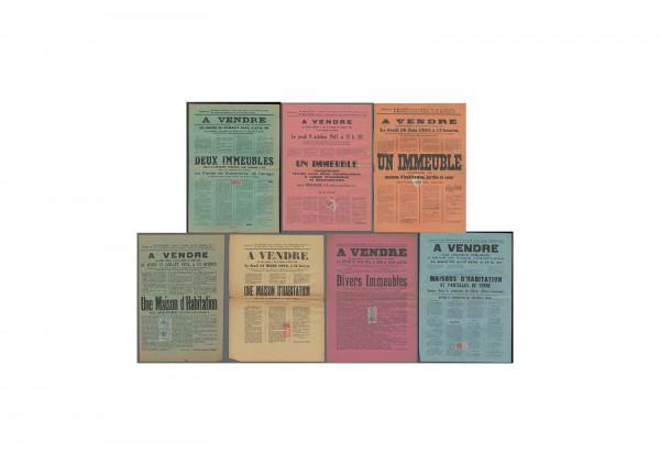 Fiskalmarken Frankreich 3 verschiedene Marken 1900-1940