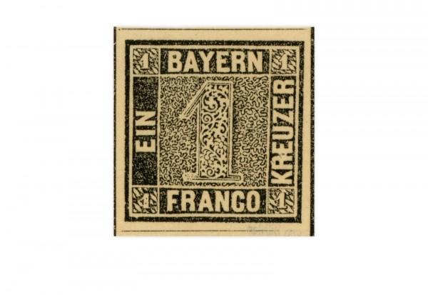 Faksimile Bayern Schwarzer Einser