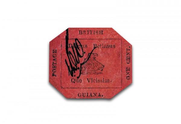 Faksimile British Guiana One Cent Magenta 1856
