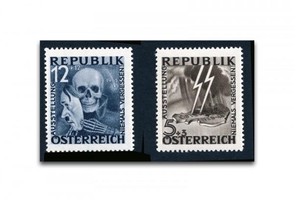 Faksimile Österreich Maske/Blitz 1946