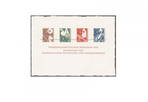 Faksimile BRD 1953 Verkehrsausstellungsblock Mi.Nr. S 167 bis 170