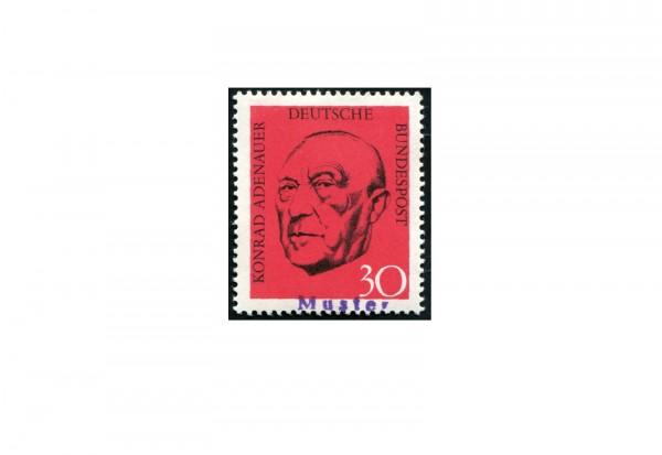 Faksimile BRD 1968 Roter Adenauer Michel-Nr. XI