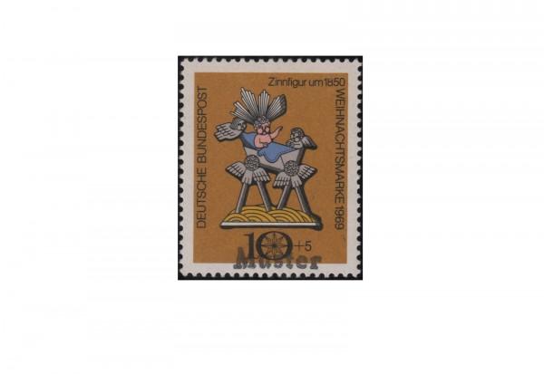 Faksimile BRD 1969 Weihnachten Pausbäckchen Michel-Nr. XI