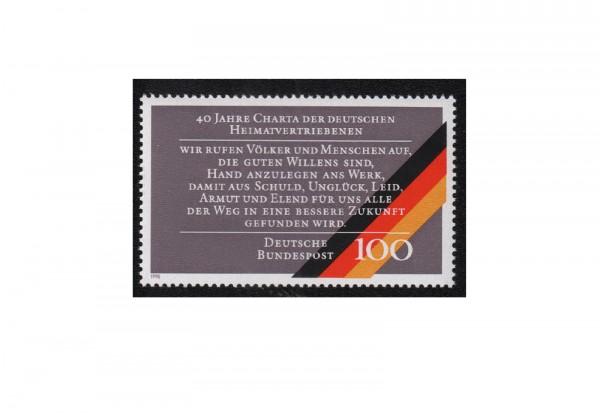 Faksimile BRD 1990 40 Jahre Charta der Heimatvertriebenen Michel Nr. XIV