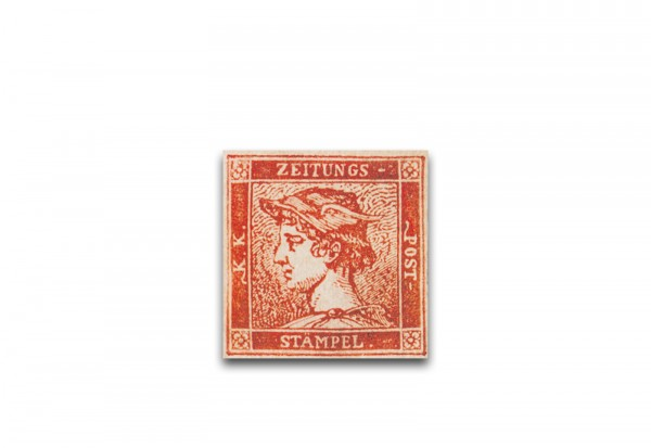 Faksimile Österreich 1856 Roter Merkur Michel-Nr. 9